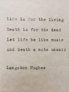 Langston Hughes Typewriter Poem Life And Death by StudioCeladon
