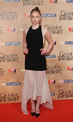Sophie Turner bei der Premiere der 5. Staffel von Game of Thrones in London