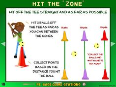 Pe Floor Hockey Stations 20 Quot Stick To It Quot Zones Pe