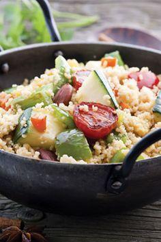 Recepty z kuskusu | Recepty podle surovin | Recepty | PRO - BIO, první český výrobce biopotravin Couscous, Potato Salad, Healthy Recipes, Healthy Food, Mashed Potatoes, Grains, Rice, Pasta, Ethnic Recipes