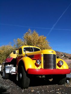 Old Beautiful Truck. #OldTruck #Yellow #Red #truck