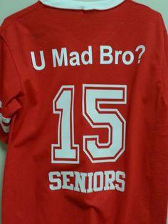 Back of masco girls football shirts - custom names