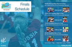 Finals Schedule at 2016 Intercontinental (Designed and Produced for World ParaVolley)
