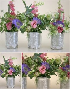 I don't know why, or if I've looked at too many images of table centres, but - aside from the lacy bits.. I really like the natural-ness of these....