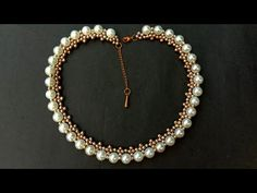 How To Make//Easy Pearl Necklace// Bridal Necklace// Useful & Easy - Beady Things Pearl Necklace Designs, Pearl Necklace Wedding, Bridal Necklace, Diy Necklace, Diy Bracelet, Pearl Necklaces, Custom Jewelry, Diy Jewelry, Handmade Jewelry