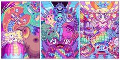 """O australiano Paul Robertson é animador e artista digital, e é conhecido por sua pixel art usada em curtas-metragens e games como """"Scott Pilgrim Vs. the World: The Game,"""" e seu recente """"Mercenary Kings."""" Agora Robertson anda fazendo sucesso no Tumblr com seus gifs que misturam formas geométricas, personagens japoneses e estética com um toque de anos 90. (...)"""