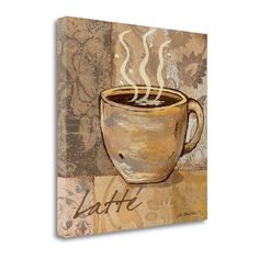 Tangletown Fine Art 'Latte' by Jo Moulton Vintage Advertisement on Wrapped Canvas