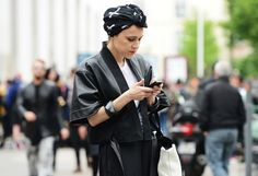 Paris Menswear Spring 2014 Street style shot by Tommy Ton