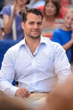 Actor Henry Cavill tapes an...