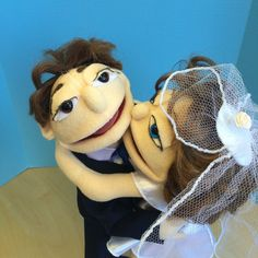 A Couple Custom made look alike portrait Muppet by evelinka