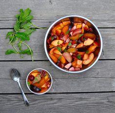 Stone Fruit, Hibiscus Fruit Salad Recipe