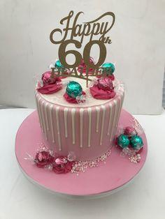 Vintage Cupcake, Drip Cakes, Pink White, Birthday Cake, Desserts, Food, Tailgate Desserts, Deserts, Birthday Cakes