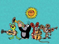Le petit Taupek, personnage celebre des films animés tcheques d´apres les illustrations de Zdenek Miler. La Petite Taupe, Kitsch, Music Pictures, Partys, Illustrations, Mole, Music Is Life, In A Heartbeat, Origami