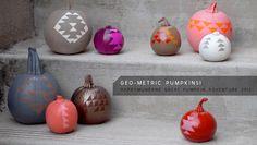 The Great Pumpkin Adventure 2012: Geometric pumpkins
