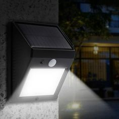 Walk confidenly outside your home at night with the awesome motion sensor solar powered outdoor light!Light will automatically turm on at night time and maintain in dim standby light until someone walks by.When someone move around the dete. Outdoor Solar Lamps, Outdoor Wall Lighting, Modern Lighting, Backyard Lighting, Luxury Lighting, Landscape Lighting, Lighting Ideas, Lamp Light, Closets