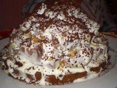 Бисквитный торт «Графские развалины» с шоколадной глазурью и сметаной