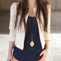Tweed blazer, staple piece