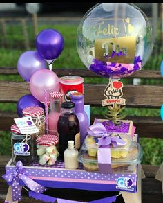 21st Birthday Decorations, Balloon Decorations Party, Baby Girl Gift Baskets, Baby Girl Gifts, Birthday Box, Birthday Gifts, Holi Gift, Surprise Box, Diy Gifts For Boyfriend