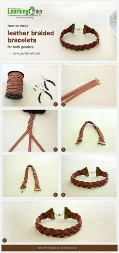 How Do You Make Suede Cord Braided Bracelet with 3 Strands