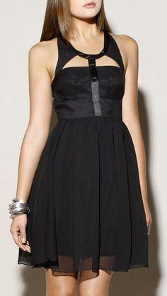 Silk Cut Out Dress