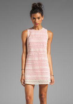 JARLO Tara Lace Tank Dress in Pink