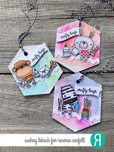 Welcome to day 3 of the Countdown to Confetti with Reverse Confetti ! All of the new goodies that the Confetti Crew wi. Card Tags, Gift Tags, Birthday Card Drawing, Confetti Cards, Bookmark Craft, Paper Crafts Origami, Candy Cards, Diy Crafts For Gifts, Paper Tags