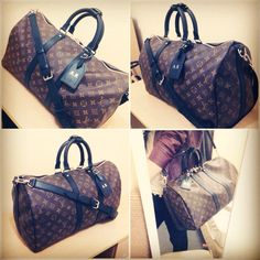 My new Louis Vuitton Keepall 45 in Monogram Macassar.
