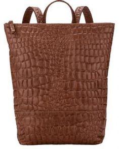 !!!Businessrucksack Malibu Waxy Croco medium brown braun Backpack Medium Brown, Burlap, Laptop, Reusable Tote Bags, Backpacks, Material, Design, Products, Metal Ring