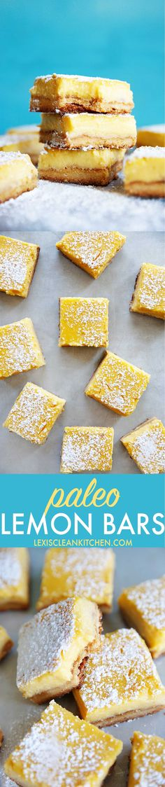 Lemon Bars {Paleo-friendly, grain-free, gluten-free} | Lexi's Clean Kitchen