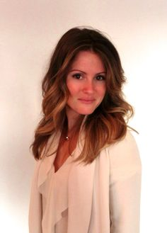 Soft brunette ombre or sombre effect with lose wave.