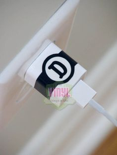 Monogram iPhone charger decal Monogram by TheVinylThingsInLife