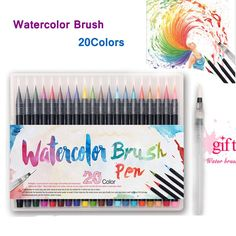 All the joy of watercolor painting without the annoying set-up. Create beautiful, elegant, and vividly vibrant art with these Watercolor Brush Pens!! A wonderful gift with 20 different colors! We use premium high quality dye giving you bright vivid colors, and brushes made of thin micro fabric hairs, allowing for precision and flawless movement when you paint. Our Watercolor Brush Pens are easy to use and simple to master,allowing your creative mind tocreate a very uniquetype of art. Grab…