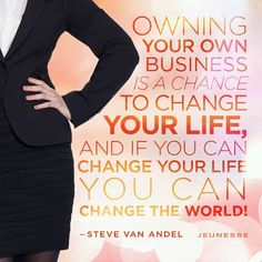 Owning your own business is a chance to change your life and if you can change your life you can change the world!  Steve Van Andel. . . . #businesspassion #business #marketing #learn #education #startup #marketing #success #successquotes #businessowners #ambition #dream #goals #start #money #businessman #businesswoman #businesslife #entrepreneurlifestyle #goodlife #entrepreneur #motivated #businessowners #motivation #jeunesseglobal #ksa  #dubai #doha #bahrain #tunisia #kuwait by…