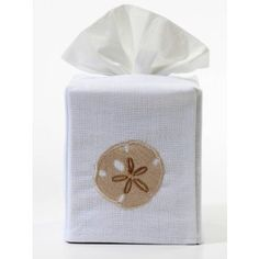 This embroidered white linen Tissue Box Cover slides easily over the standard sized US cube. A delightful accent for your bathroom, bedroom, kitchen or office.  Select your color :      Beige   Aqua   Blue  Cream        Size:           W-4 ��,  D-4 ��,  H-5 ��   Fabric:         White Linen   Embroidery: 1 Embroidery   Washing:     Machine washable cold