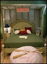 Neat Bed Baseball Bedroom