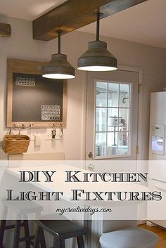 diy kitchen light fixtures, diy, kitchen design, lighting