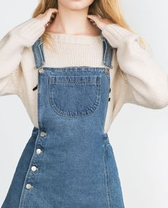 Swans Style is the top online fashion store for women. Shop sexy club dresses, jeans, shoes, bodysuits, skirts and more. Denim Dungaree Dress, Denim Dungarees, Denim Outfit, Phoebe Buffay, Chandler Bing, Look Fashion, Fashion Outfits, Womens Fashion, Classy Outfits
