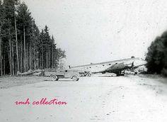 """Bf 109 G-14 W.Nr unknown """"Schwarze 64"""", 2./EJG 1 (?), Salzburg - Maxglan, May 1945. . The Ju 290 is W.Nr. 110 162 """"9V+EK"""""""