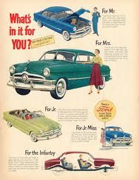 Vintage Ford automobile ads, - Found in Mom's Basement 1920s Advertisements, 1950s Ads, Retro Ads, 1940s, Automobile, Pub Vintage, Ad Car, Car Advertising, Advertising History