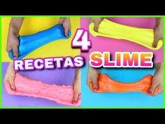 4 RECETAS PARA HACER SLIME   SLIME FÁCIL Y SIN BÓRAX   NatyGloss - YouTube Becky Lee, Diy For Kids, Crafts For Kids, How To Make Slime, Conte, Youtube, Make It Yourself, Rarity, Cami