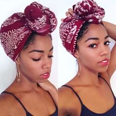 Head Wraps for Natural Hair | How to Style Head Scarves on Natural Hair | Headwrap Inspiration