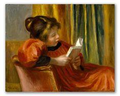 """Niña Leyendo"" de Auguste Renoir, cuadro impresionista al óleo."