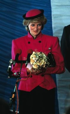 October 18, 1985: Princess Diana visiting The Royal Hampshire Regiment in West Berlin, Germany.