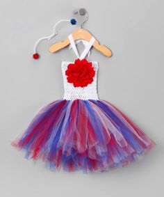 Take a look at this Red, White & Blue Firecracker Tutu Dress Set - Toddler & Girls by Fourth of July Boutique on #zulily today!