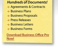 Business Office Pro - Collection of Business Document and Legal Forms.