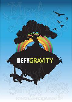 Rock Climbing Inspirational Print  Defy Gravity by Miss by meggyb, $12.95