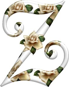 Cute Alphabet, Alphabet And Numbers, Alphabet Letters, Beautiful Lettering, Decoupage, Ivory Roses, English Roses, Rose Buds, Bunt