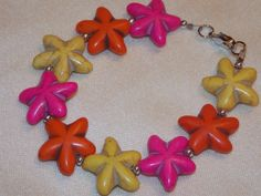 Rainbow Starfish Bracelet  2 Choices by EriniJewel on Etsy, $20.00