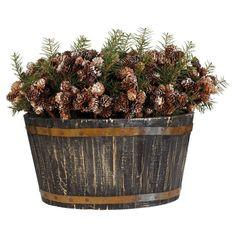 Basket of Christmas Pine Cones #christmas #pine #cone #oka