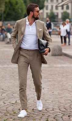 Mens Fashion Smart – The World of Mens Fashion Gentleman Mode, Gentleman Style, Polo Outfit, Blazer Outfits, Mens Fashion Suits, Mens Suits, Men's Fashion, Business Mode, Business Casual